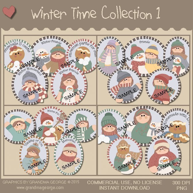 Winter Time Graphics Collection Vol. 1