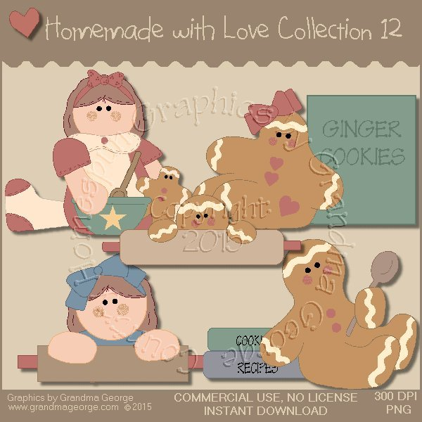 Homemade with Love Graphics Collection Vol. 12