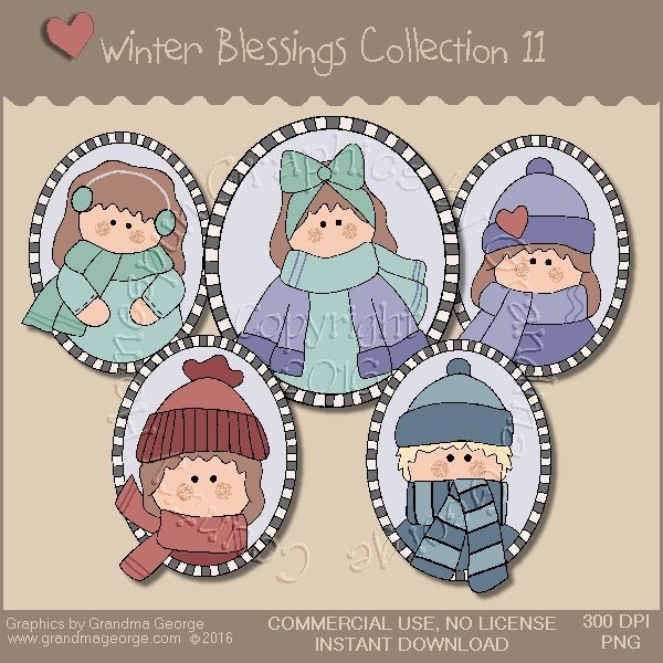 Winter Blessings Country Graphics Collection Vol. 11