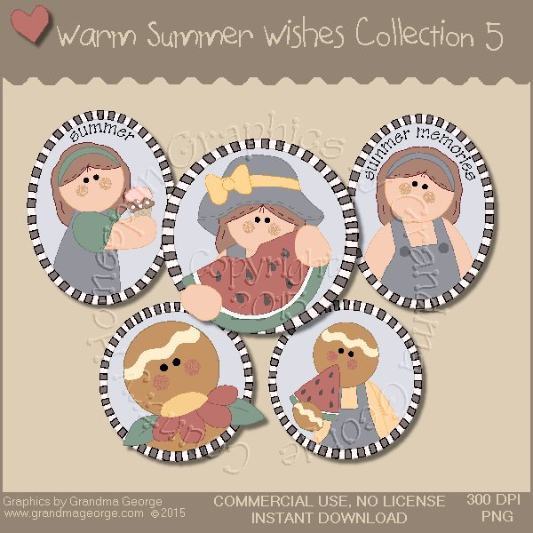 Warm Summer Wishes Graphics Collection Vol. 5