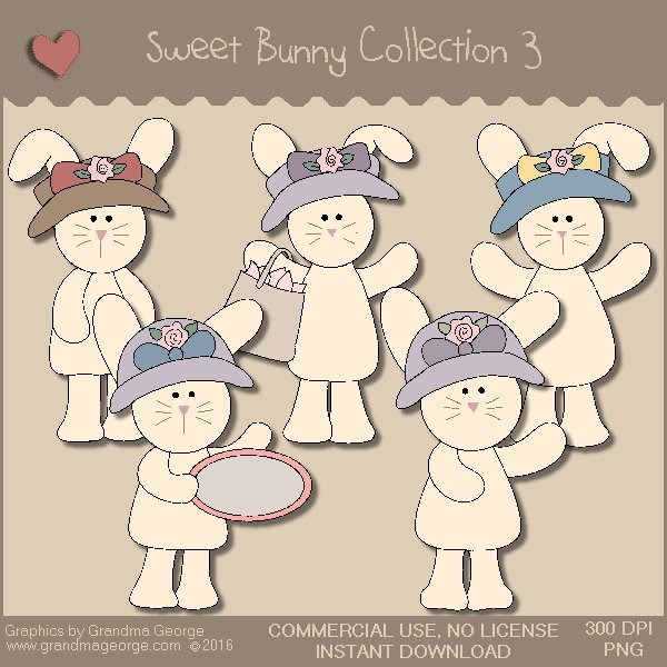 Sweet Bunny Country Graphics Collection Vol. 3
