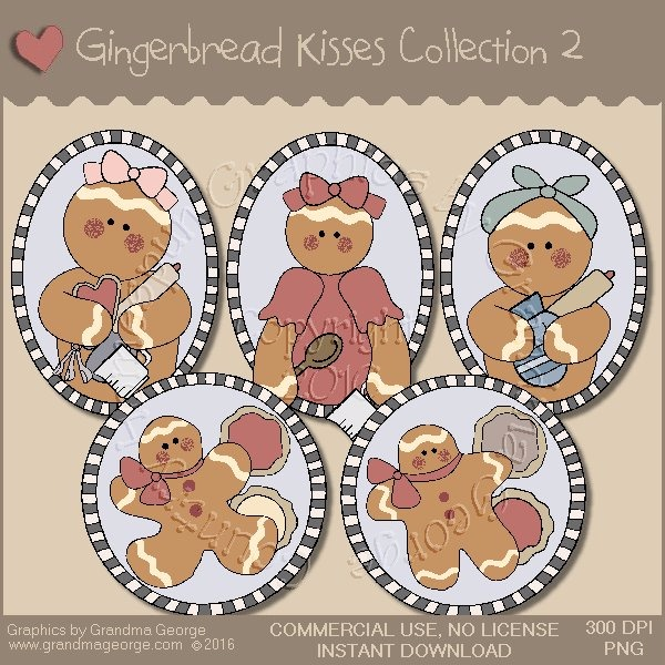 Gingerbread Kisses Country Graphics Collection Vol. 2
