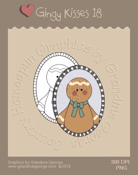 Gingy Kisses Single Country Graphic 18
