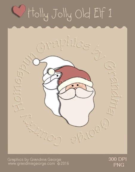 Holly Jolly Old Elf Single Country Graphic 1