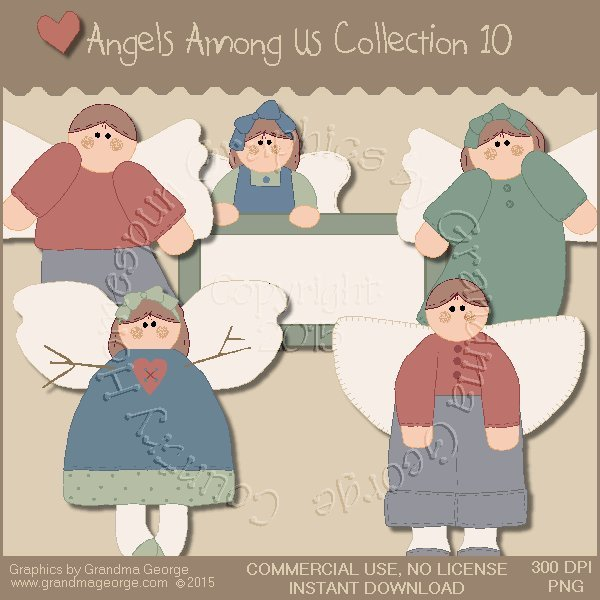 Angels Among Us Graphics Collection Vol. 10