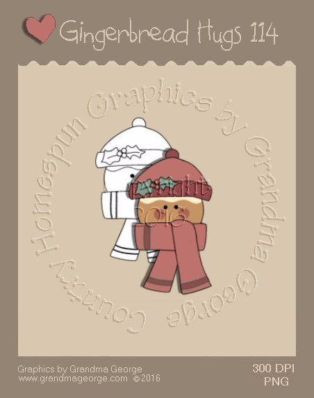Gingerbread Hugs Single Country Graphic 114
