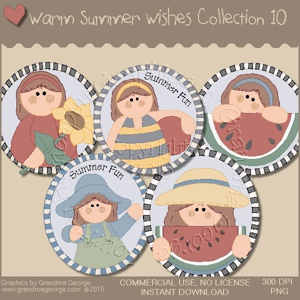 Warm Summer Wishes Graphics Collection Vol. 10