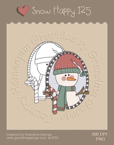 Snow Happy Single Country Graphic 125