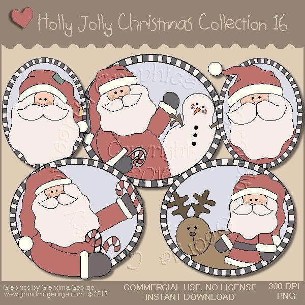 Holly Jolly Christmas Country Graphics Collection Vol. 16