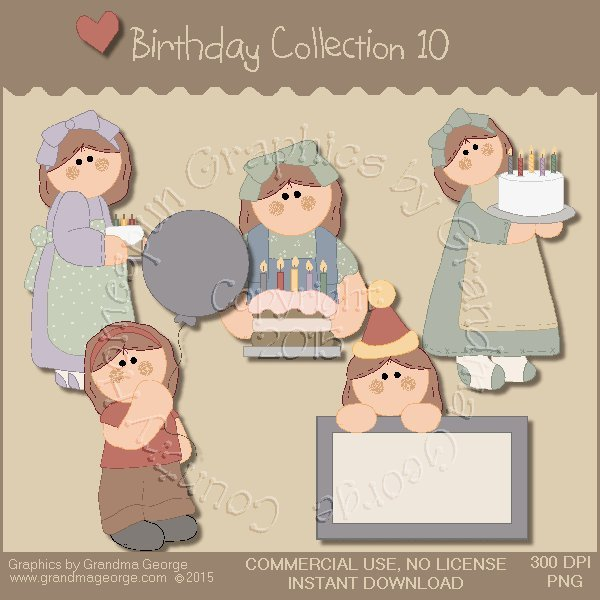 Birthday Graphics Collection Vol. 10