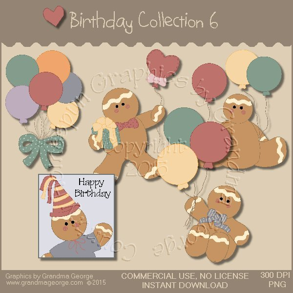 Birthday Graphics Collection Vol. 6