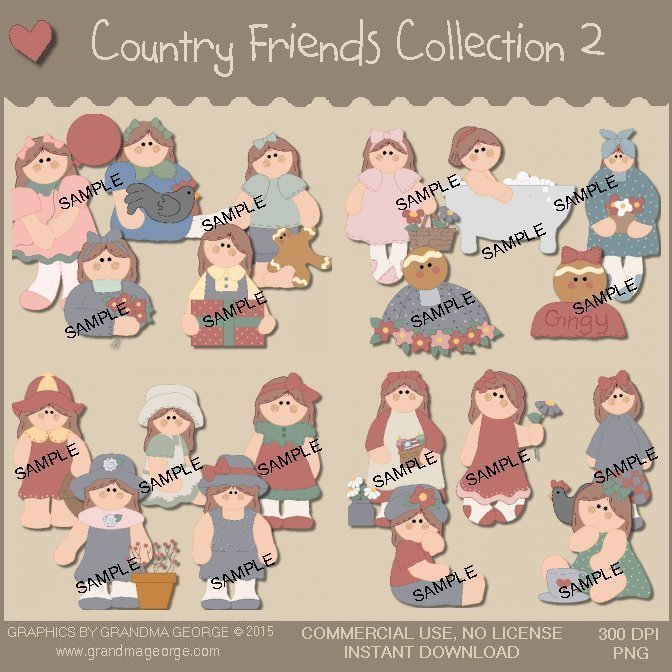 Country Friends Graphics Collection Vol. 2