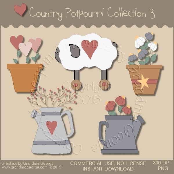 Country Potpourri Graphics Collection Vol. 3