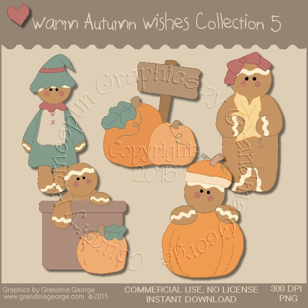 Warm Autumn Wishes Graphics Collection Vol. 5
