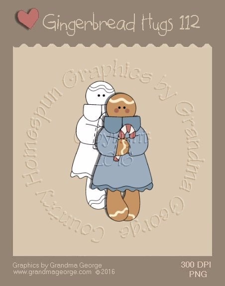 Gingerbread Hugs Single Country Graphic 112