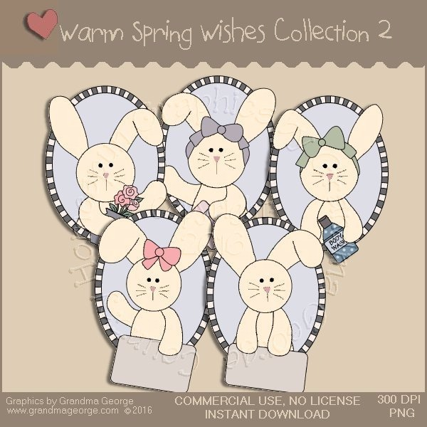 Warm Spring Wishes Country Graphics Collection Vol. 2