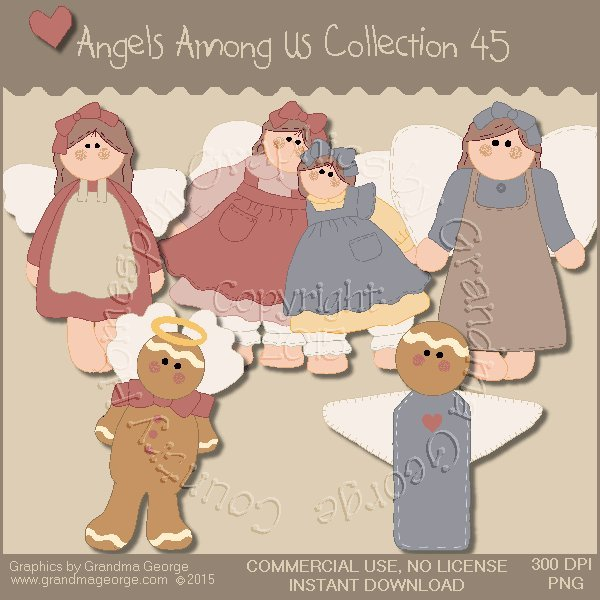 Angels Among Us Graphics Collection Vol. 45