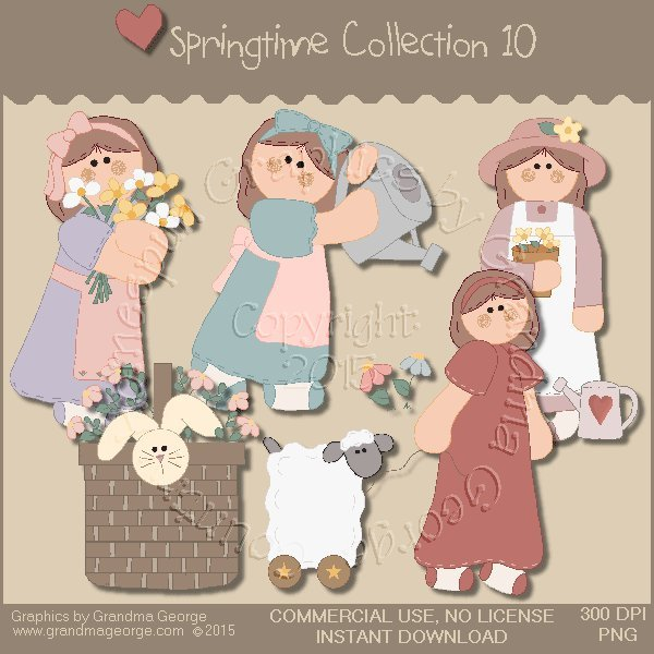 Country Springtime Graphics Collection Vol. 10