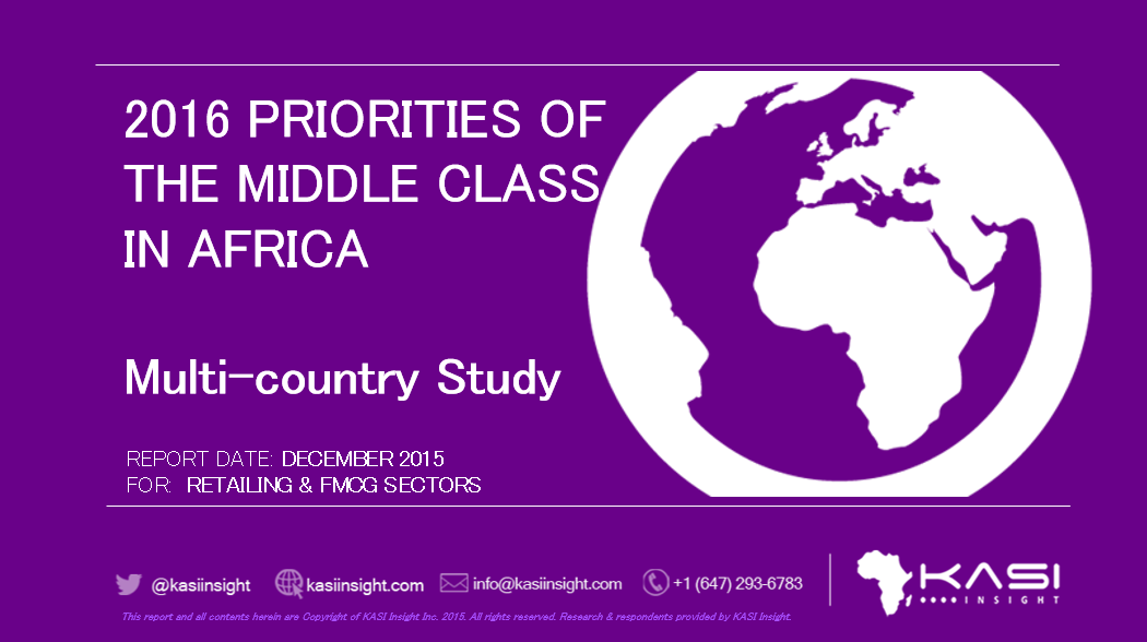 2016 Priorities of the emerging class in Africa
