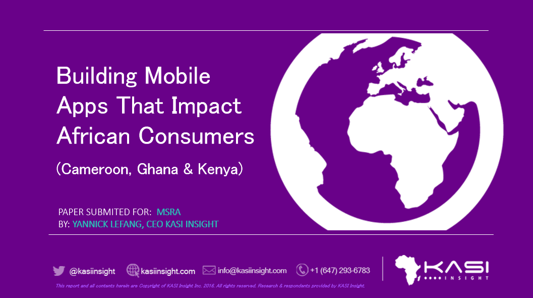 Build mobile apps that Africans want