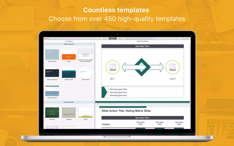 Templates for iWork Pro