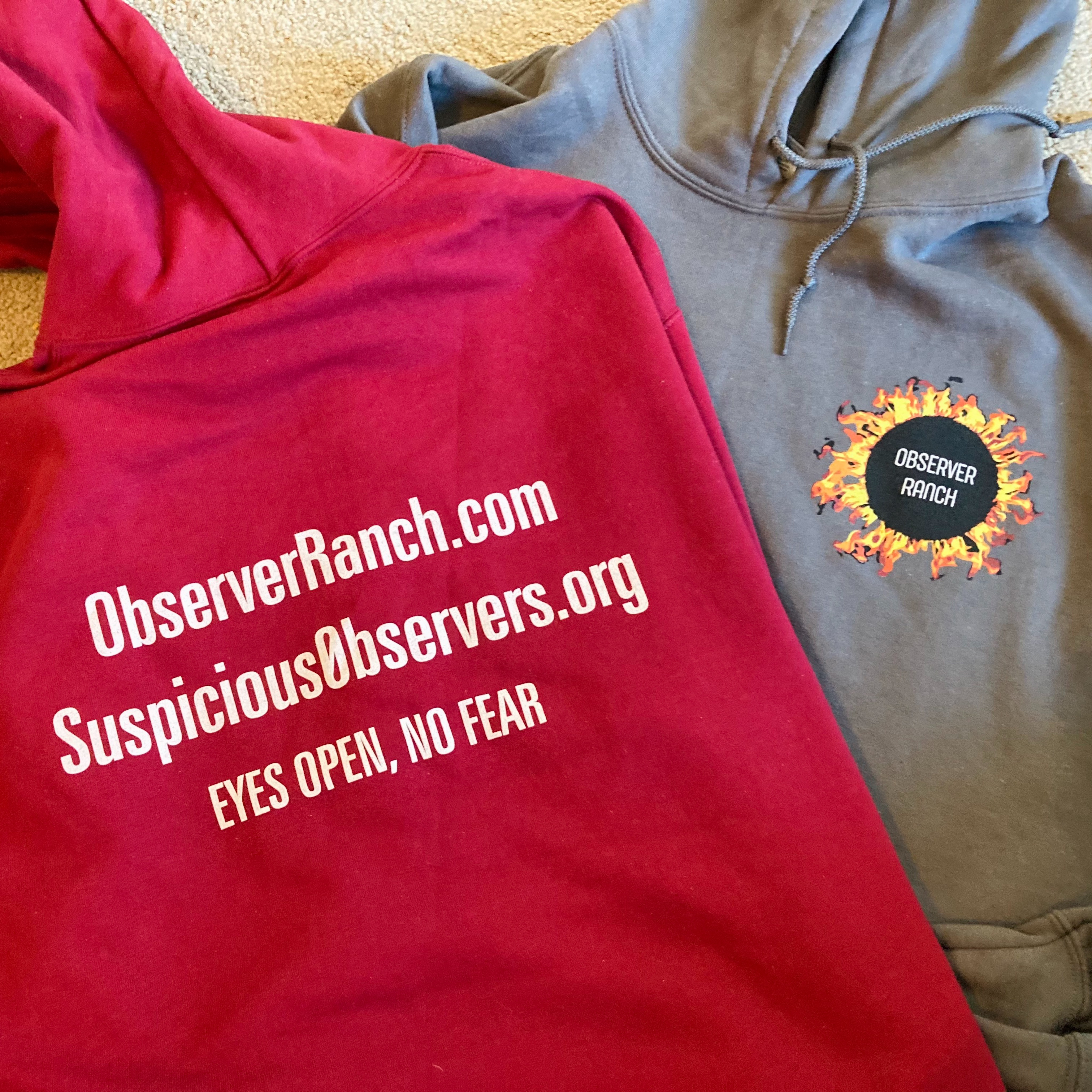 Limited Edition 10 Year Anniversary FOUNDER Observer Ranch/Suspicious0bserver Sweatshirt
