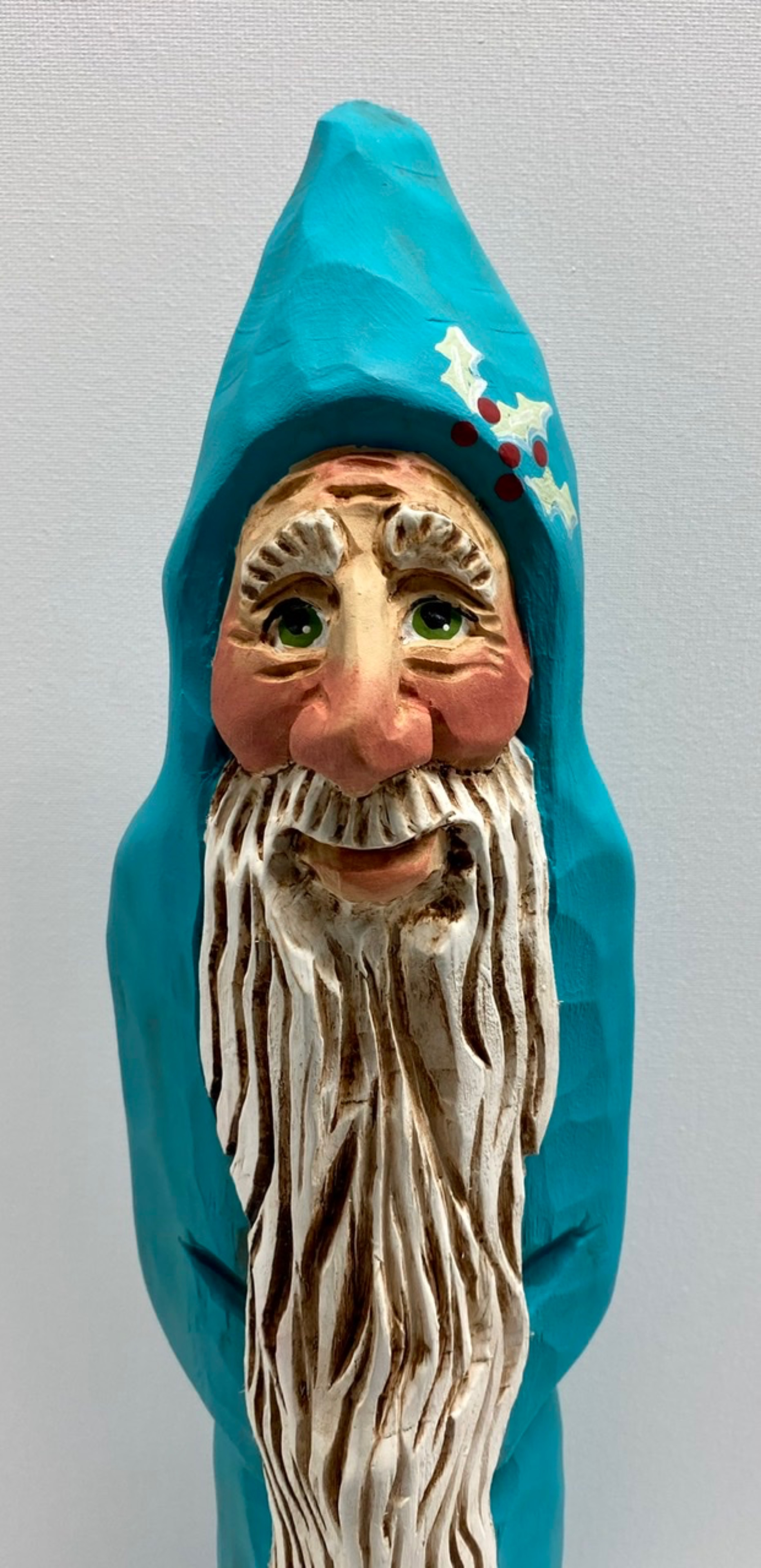 Large Santa in Turquoise