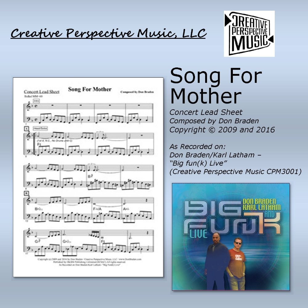 Song For Mother - Concert Lead Sheet