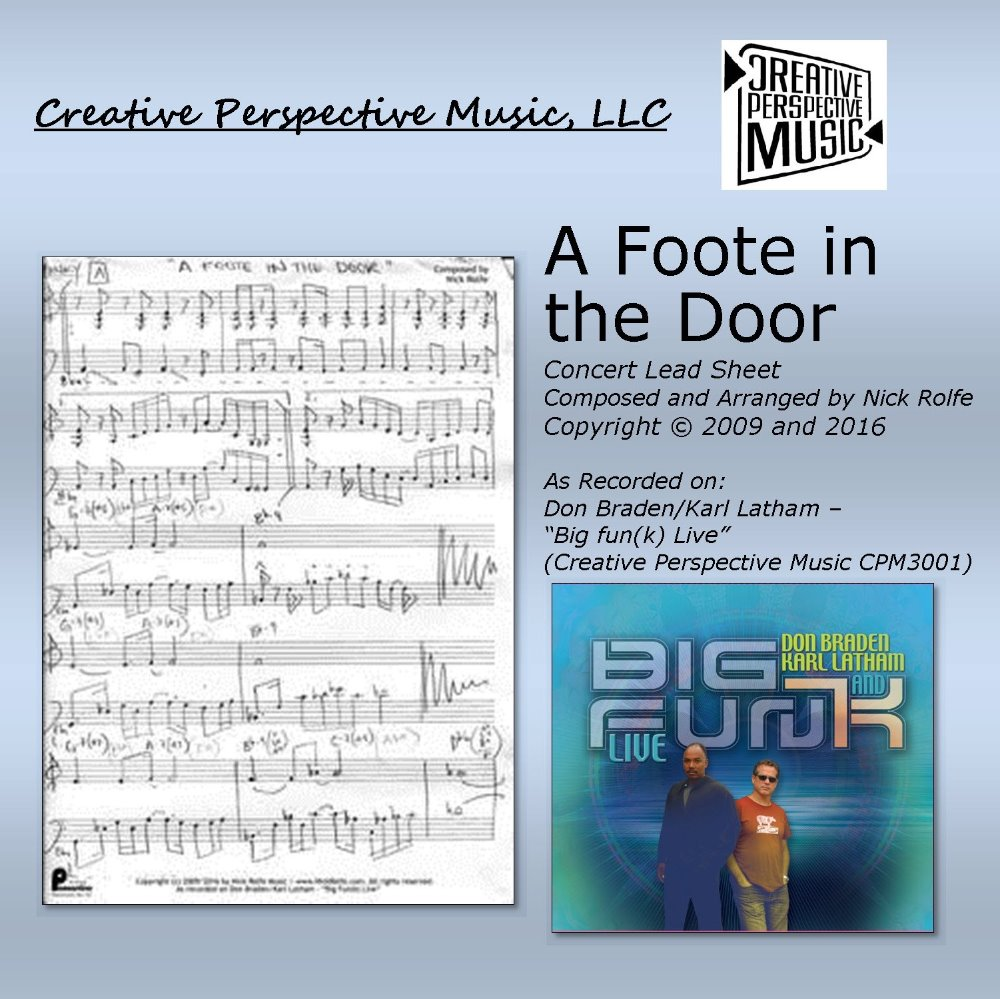 A Foote in the Door - Concert Lead Sheet
