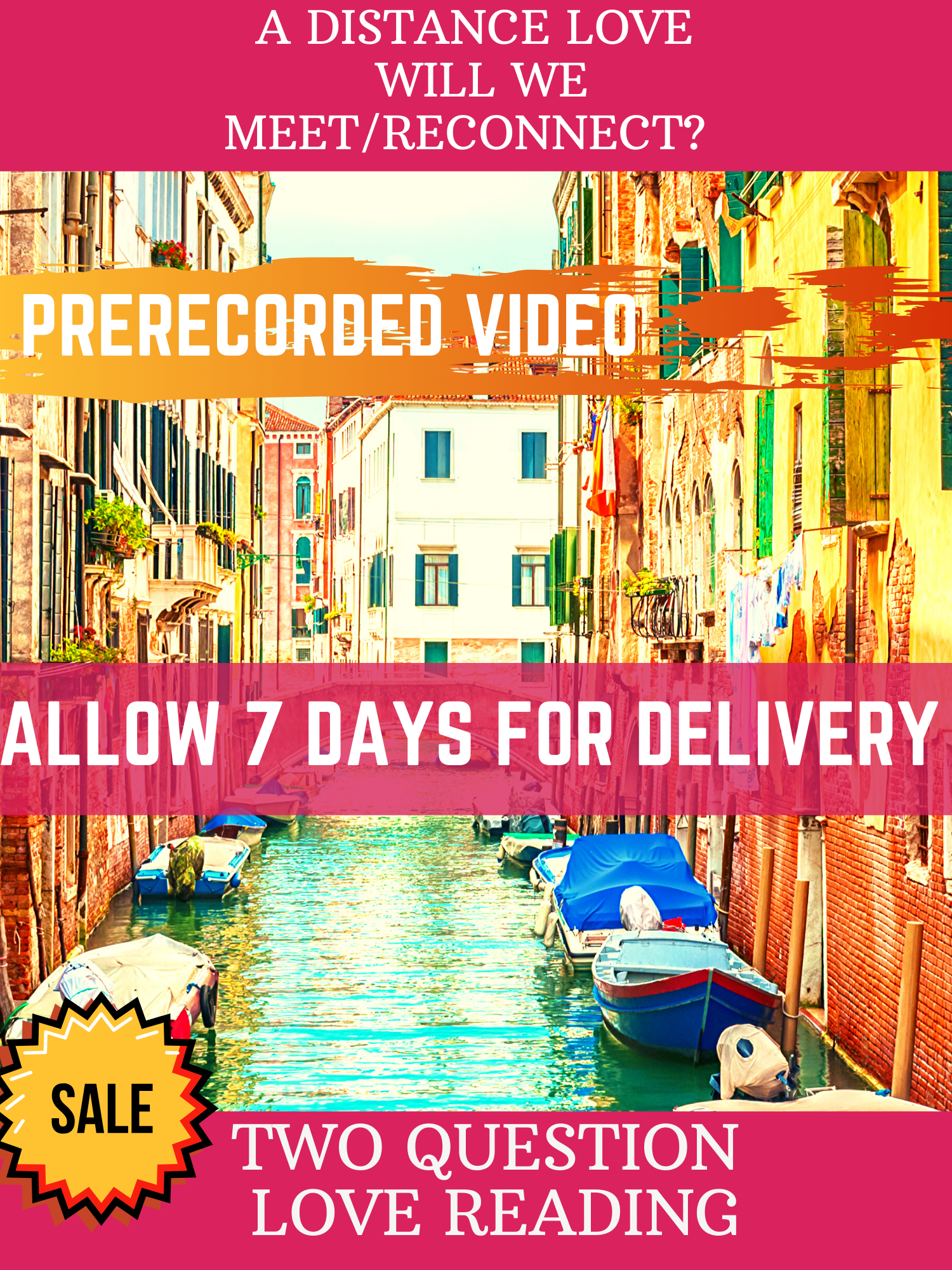 2 QUESTION VIDEO STANDARD LOVE READING (3-5 CARD SPREAD) (Please Allow Up To 7 Days For Delivery)