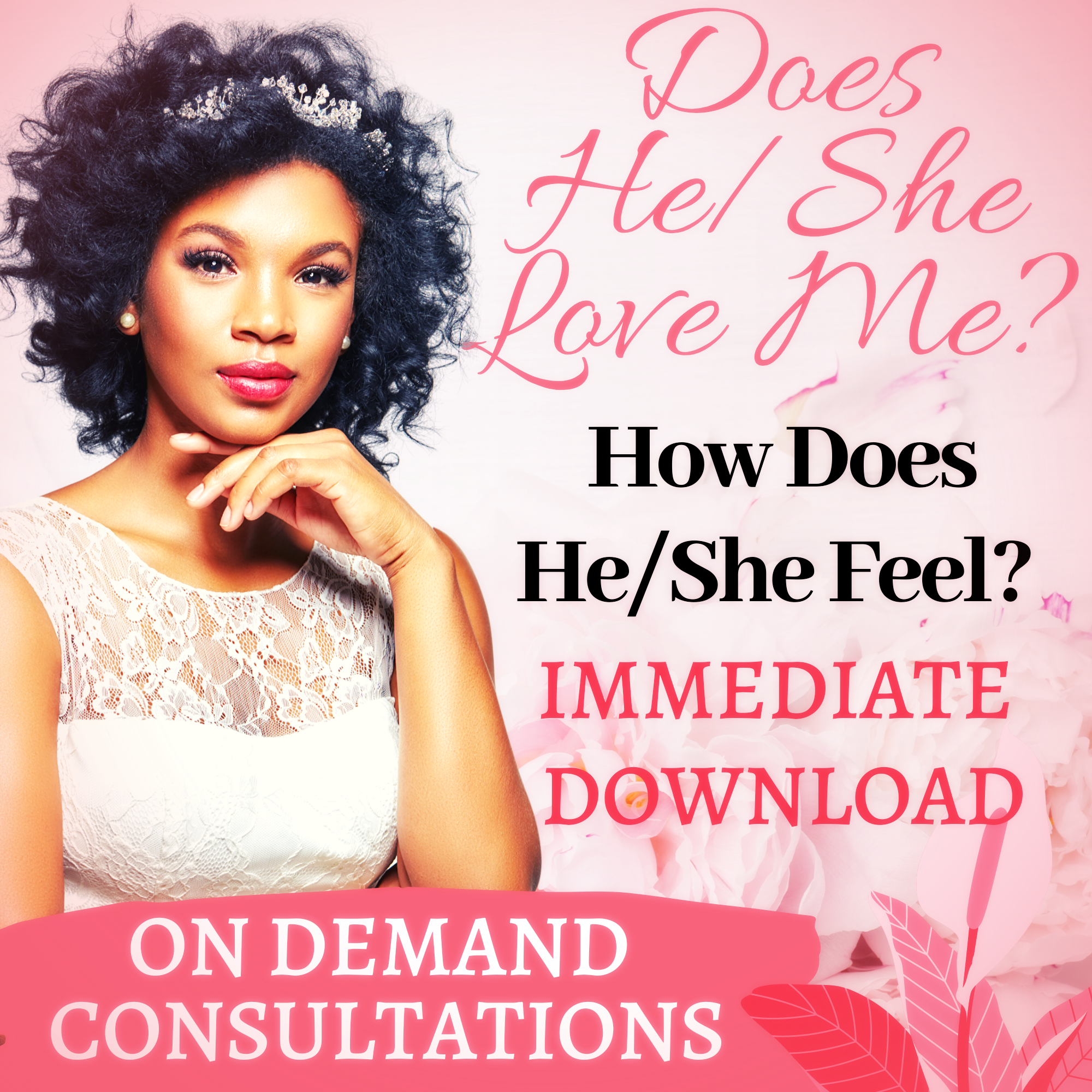 Does He/She Love Me? Get Your Immediate Answer Now (Instant Download