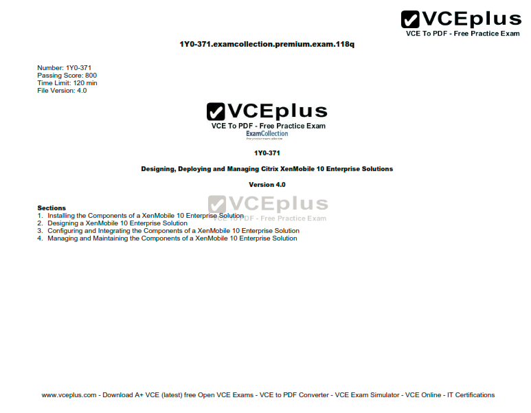 Citrix.Premium.1Y0-371.by.VCEplus.118q
