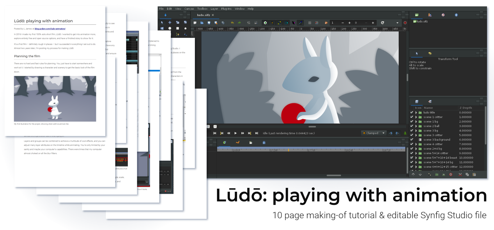 Lūdō: playing with animation [full tutorial + file]