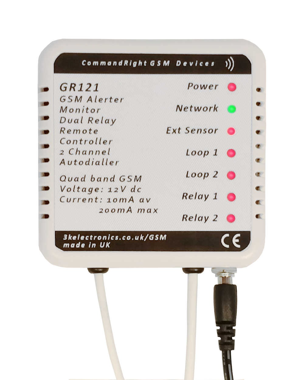GR121 GSM Remote Control/Monitor