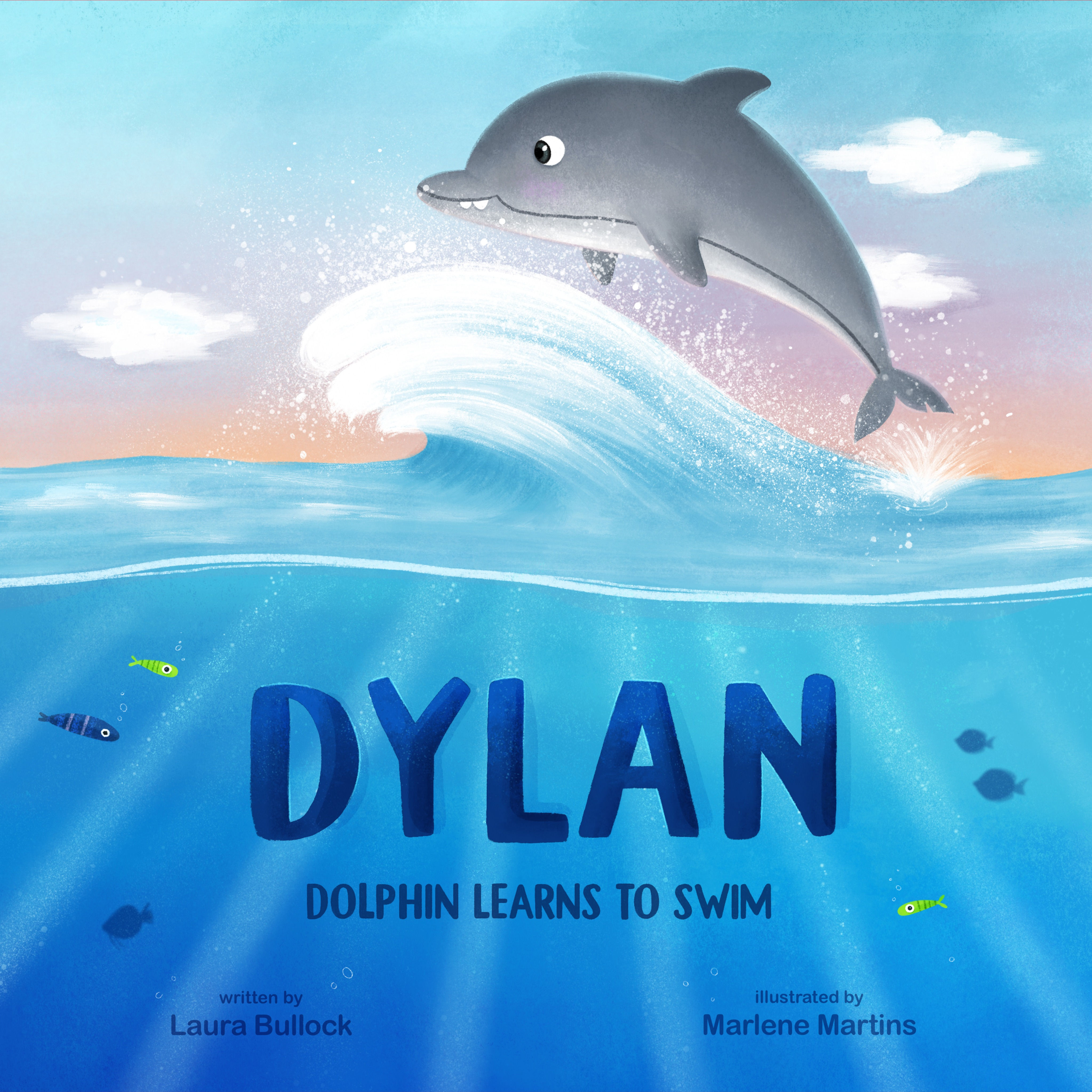 Dylan Dolphin Learns To Swim
