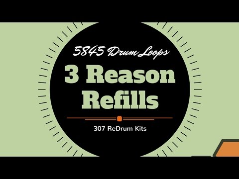 5845 Drum Loops & 307 Redrum Kits 3 Reason Refills The Phat Beat Pro Collection