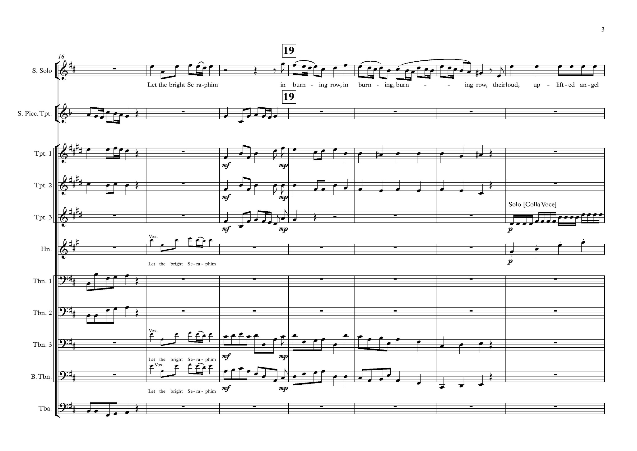 Let the Bright Seraphim arranged for Brass 10 Piece