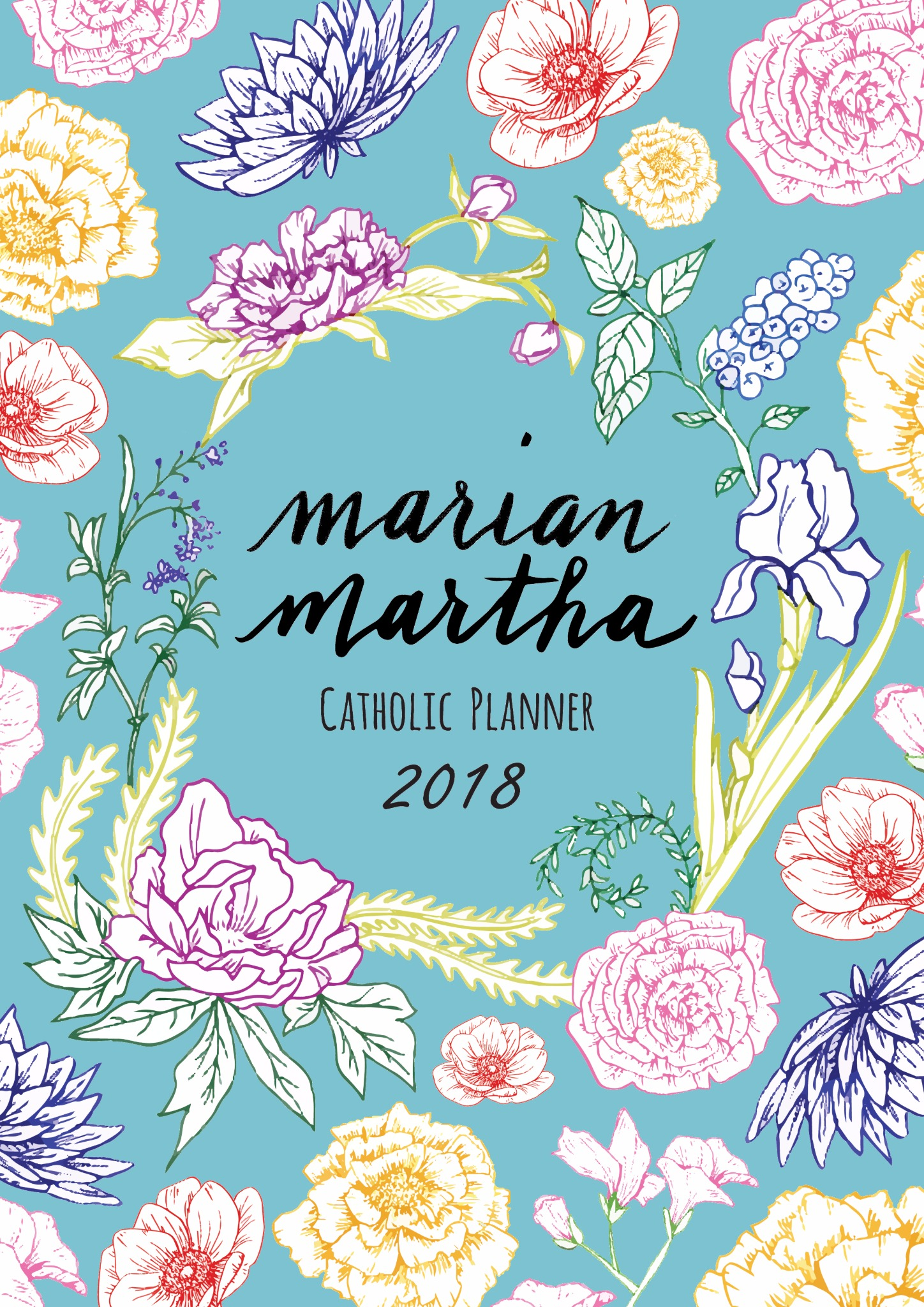 2018 Color Marian Martha Catholic Planner Digital Download