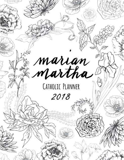 2018 B&W Marian Martha Catholic Planner Digital Download