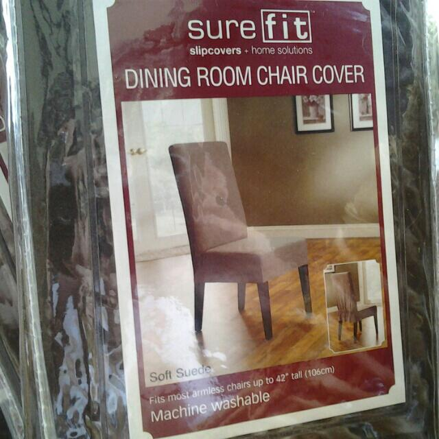 Dining Room Chair Cover - Chocolate Brown (x4)