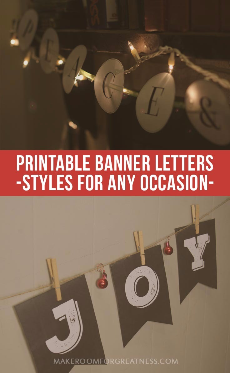 Printable Banner Letters