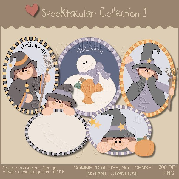 Spooktacular Halloween Graphics Collection Vol. 1