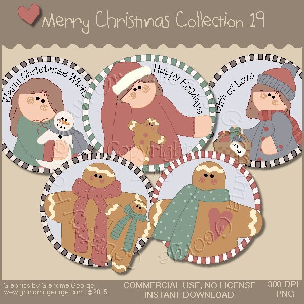 Merry Christmas Graphics Collection Vol. 19