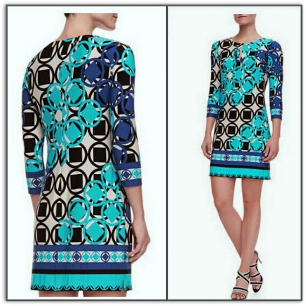 Emilio Pucci Silk Jersey Shift Dress L1828