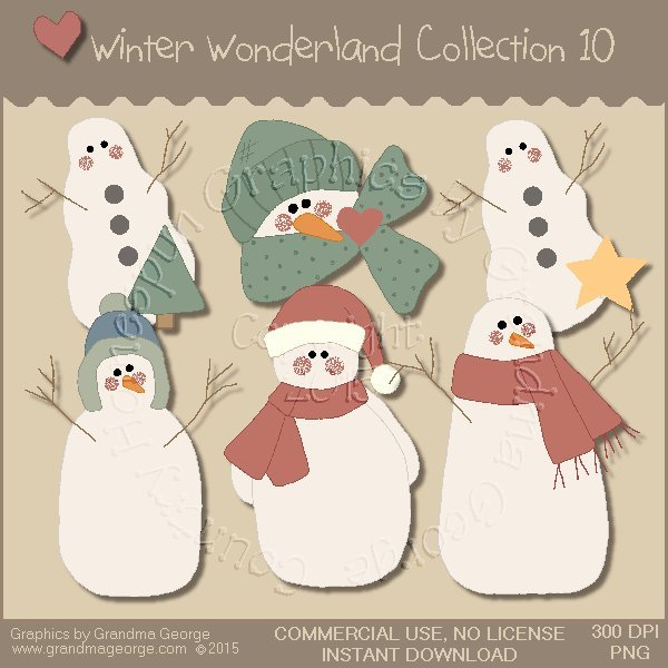 Winter Wonderland Country Graphics Collection Vol. 10