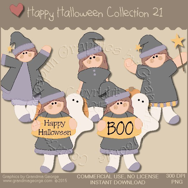 Happy Halloween Graphics Collection Vol. 21