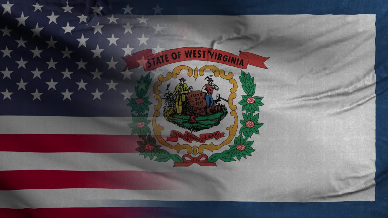 West Virginia State USA Mixed Flag 4K