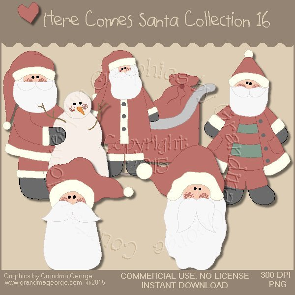Here Comes Santa Country Graphics Vol. 16
