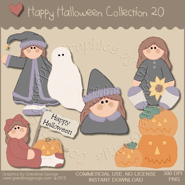 Happy Halloween Graphics Collection Vol. 20