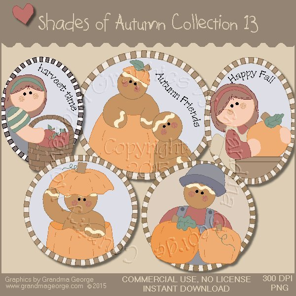 Shades of Autumn Graphics Collection Vol. 13